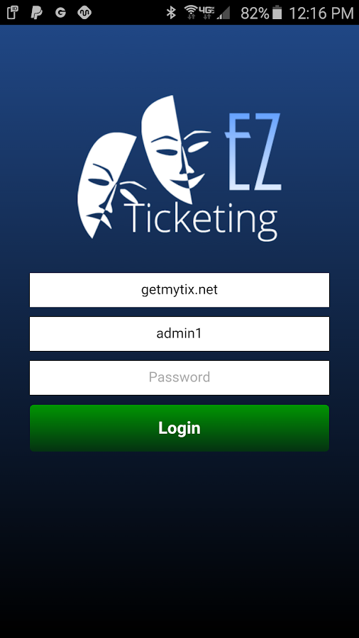 EZTicketing Admin- screenshot
