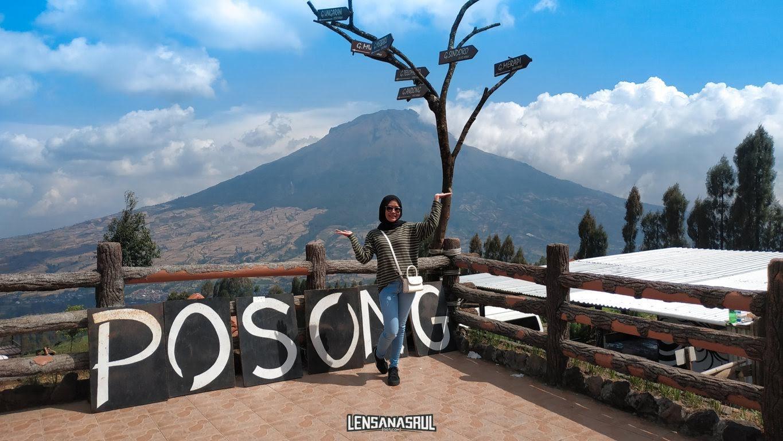 view poin Posong spot gunung sumbing