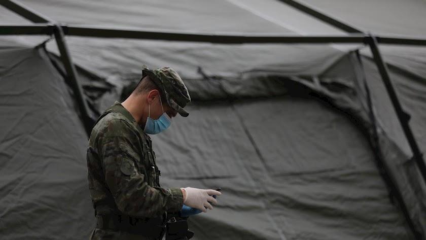 El Ejército se traslada a Lepe para prevenir contagios entre los asentamientos de temporeros.