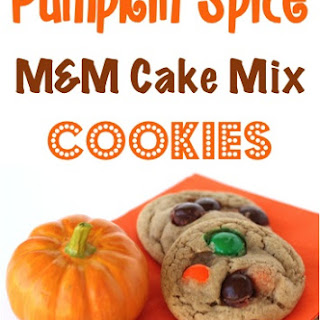 Pumpkin Spice M&M Cake Mix Cookie Recipe!
