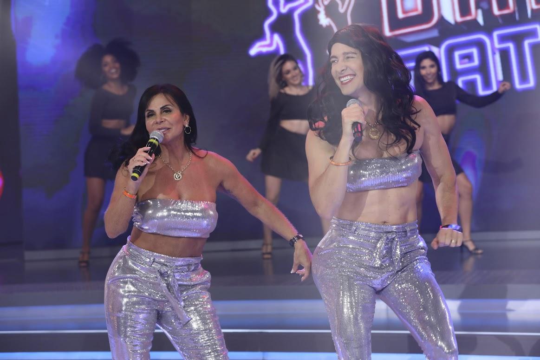 """Gretchen e Rodrigo Faro no """"Dança Gatinho"""""""