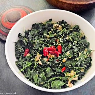 Moringa Leaves Stir-Fry (Thoran) with Grate Coconut.