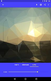 Triangulated. Lowpoly Art Tool screenshot