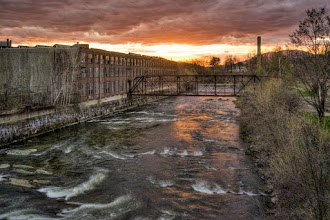 Photo: Sunset over Sugar River in Claremont, NH  #springtime #sunset #newhampshire #river #sugarriver #claremont