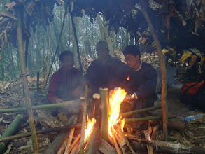 Photo: Nature cooking from local guide on trekking trail in Luang Namtha