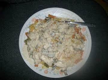 Chicken and Mushroom Alfredo Sauce
