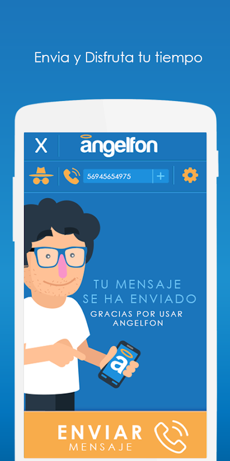 Angelfon: captura de pantalla