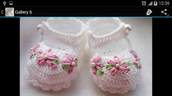 Crochet Pattern Baby Slippers- screenshot thumbnail