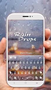 Romantic Raindrops Keyboard Theme - náhled