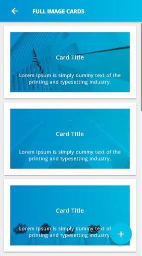 Ionic 3 Material Design UI Template - Blue Light screenshot