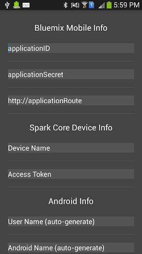 Bluemix Spark Core LED On Off