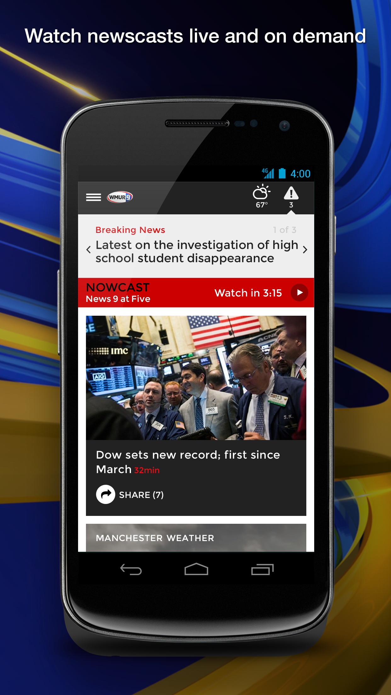 WMUR News 9 - NH News, Weather (Android) reviews at Android