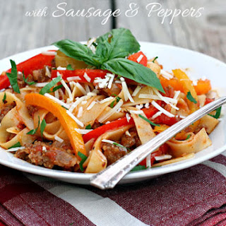 Saucy Italian Noodles with Sausage and Peppers