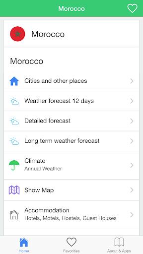 摩洛哥天氣預報,引導旅客。
