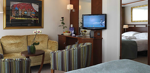 amadante-living-area.jpg - The living area in a stateroom on AmaWaterways' AmaDante.