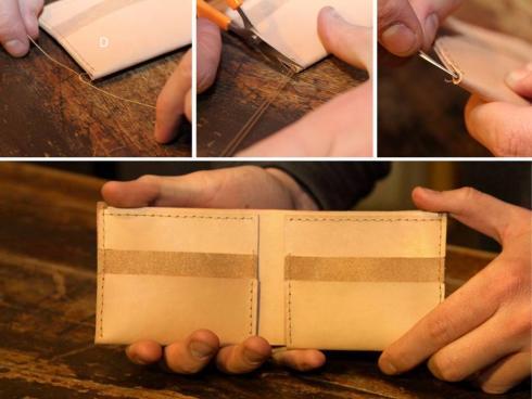 آموزش درست کردن کیف پول چرمی دستساز - مرحله ۸
