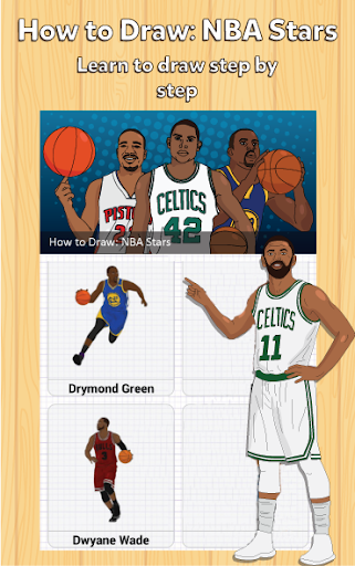 How to draw Professional US Basketball Players 1.9 screenshots 1