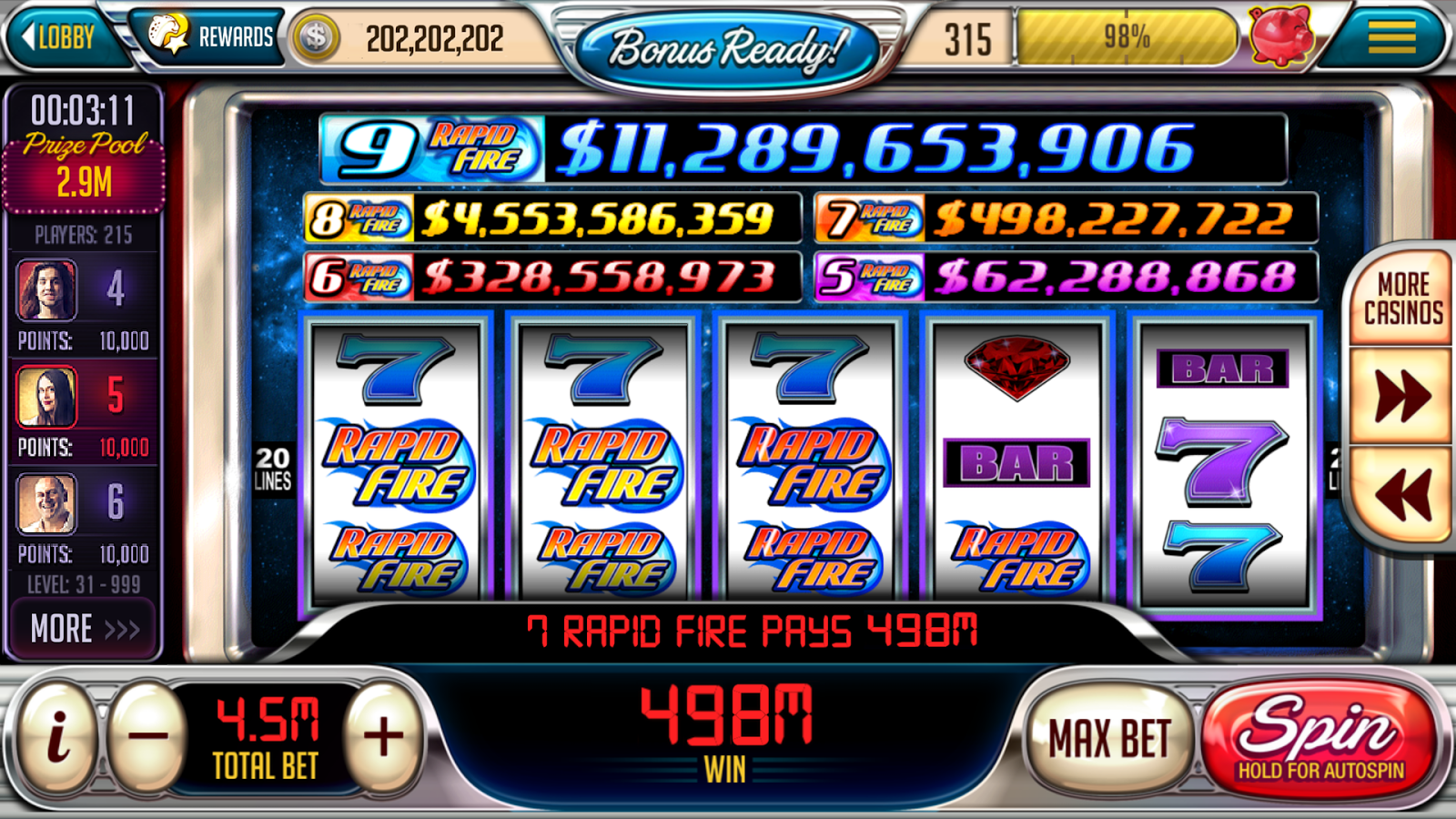 free slot machines online ring casino