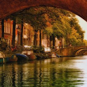 The bridges of Amesterdam!! by Orkidea W. - City,  Street & Park  Historic Districts ( building, nature, orkidea, d3100, citiy, nikon, photography,  )