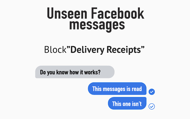 Unseen Facebook messages