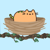 Clumsy cat on tree (Pusheen game)