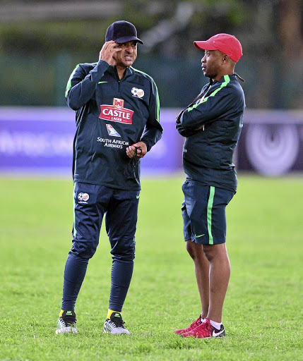 Coaches Owen Da Gama and Thabo Senong./ BackpagePix / Samuel Shivambu /