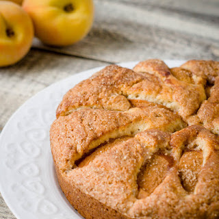 Peach Coffee Cake with Cardamom