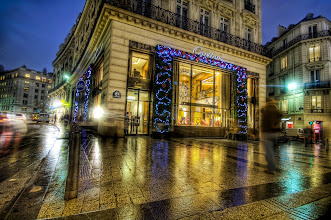 Photo: Cartier on the Champs-Élysées at Christmas  Ah yes… the wet streets of Paris here… Seems like an idyllic place for this little store called Cartier, eh?  from Trey Ratcliff at http://www.StuckInCustoms.com