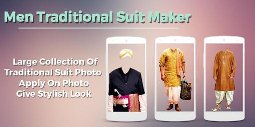Man Traditional Photo Suit 1.0 screenshots 1