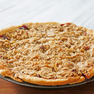 Peach Raspberry Pie with Crumble Topping