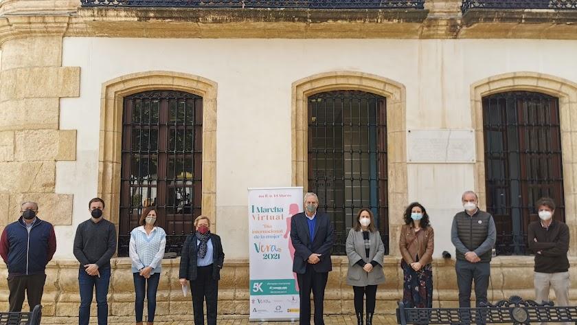Acto institucional esta mañana en la Plaza Mayor de Vera.