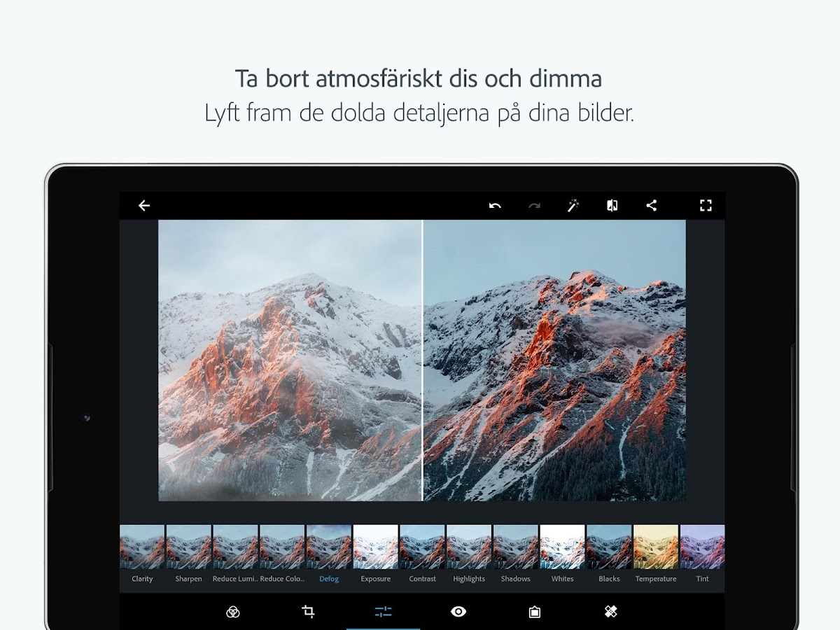 Adobe Photoshop Express: Foton och kollage– skärmdump