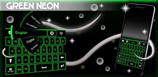 Green Neon Keyboard Aplicaciones (apk) descarga gratuita para Android/PC/Windows screenshot