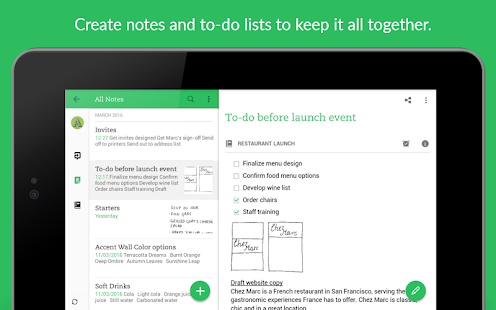 Evernote - stay organized.– сличица снимка екрана
