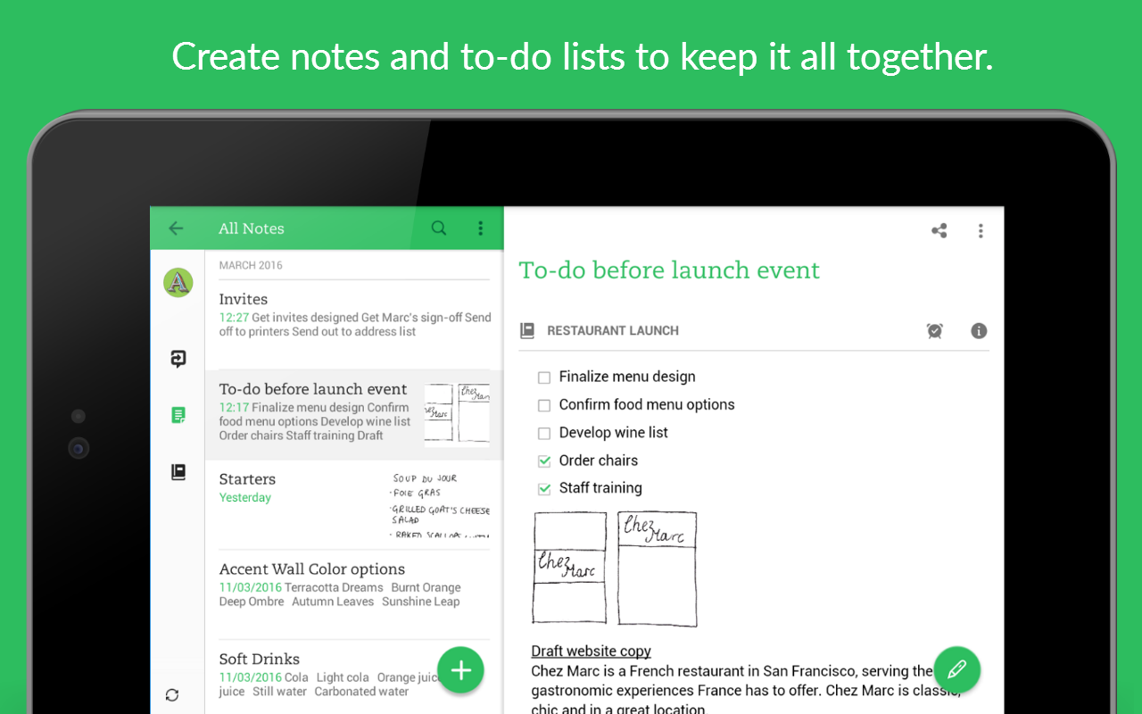 Screenshots of Evernote - stay organized. for Android