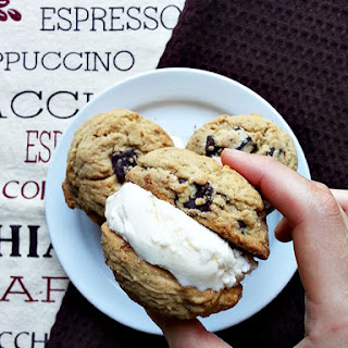 Chocolate Chip Ice Cream Cookie Sandwiches