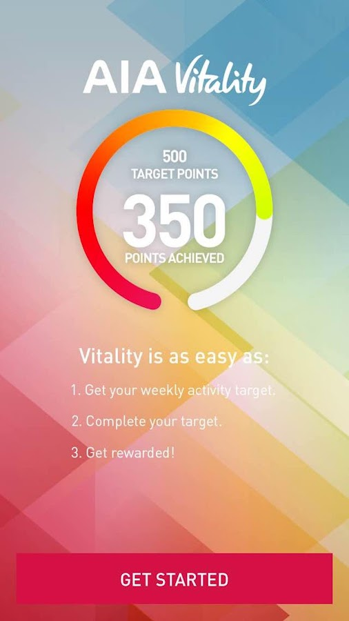 AIA Vitality Weekly Challenge- screenshot