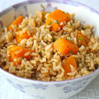 Coconut And Calabaza Rice.