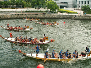 Photo: Boat Quay, wyścigi łodzi / Boat race