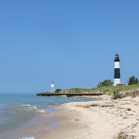 Big Sable Lighthouse Lake Michigan by Wendy Alley - Landscapes Beaches (  )