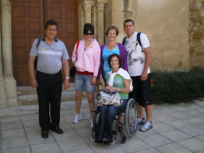 Photo: In front of the church at Ansouis