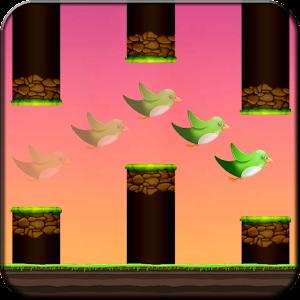 Crazy Bird Fly Icon