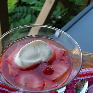 Vanilla Vodka Jellies with Chantilly Cream.