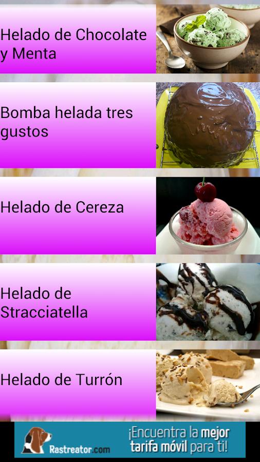 Helados caseros recetas android apps on google play - Como hacer helados caseros ...