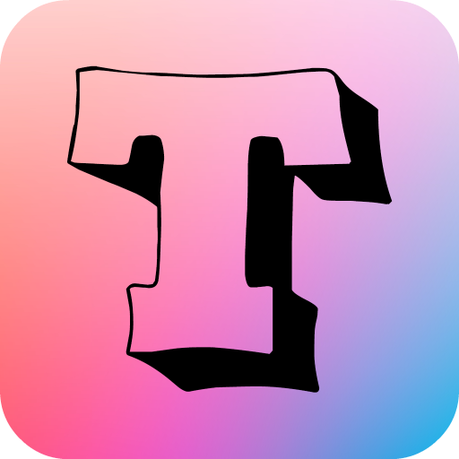 3D Text on Photo: Fonts for Picture Editing Icon