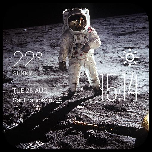 Astronaut weather widget/clock 個人化 LOGO-玩APPs