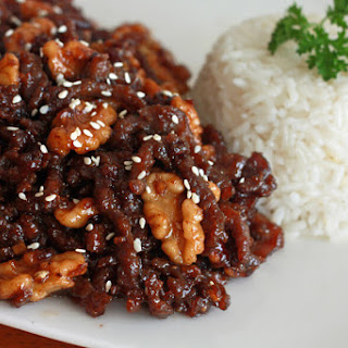 Chinese Honey-glazed Beef and Walnuts