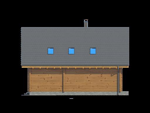 Bartne drewniane 8-0k - Elewacja tylna