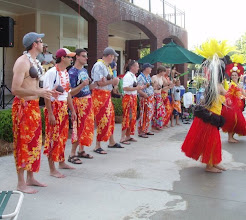 Photo: learning how to dance Tahitian