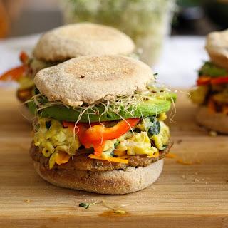 Freezer-friendly, Healthy Breakfast Sandwiches.